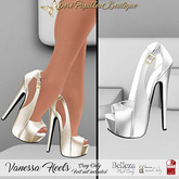 DPB Vanessa Heels - White * Maitreya* Slink *Belleza*