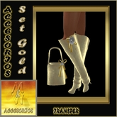 "Bag & Boots set ""Golden rush"""
