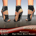 *Milady's* -Resonance- High Heels Black Sandals with Pearls