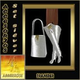 "Bag & boots set ""Silver extravagancy"""
