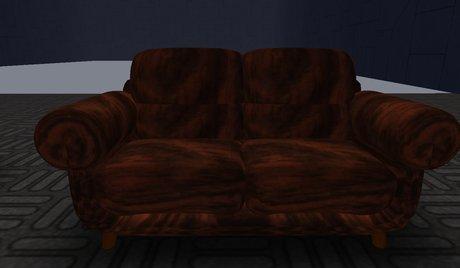 Brown Furry Chair