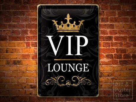 VIP LOUNGE Metal Sign Poster