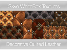 Decorative Quilted Leather -  Skye WhiteBox Full PermsTextures