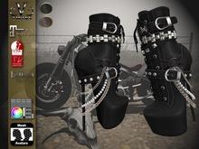 V-Twins Biker Boots - Blizzard Black&Brown Maitreya-SLInk-Belleza