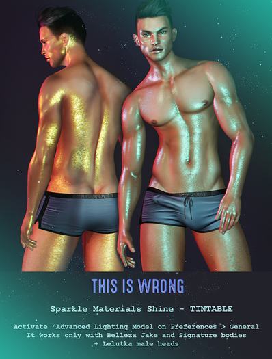 THIS IS WRONG Sparkle Materials Shine - male pack TINTABLE