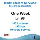 Mark1 Shoutcast Stream 1 Week