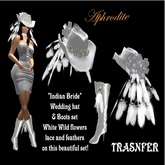 """Indian Bride  Boots & Hat Set """"Wedding""""  (boxed)"""
