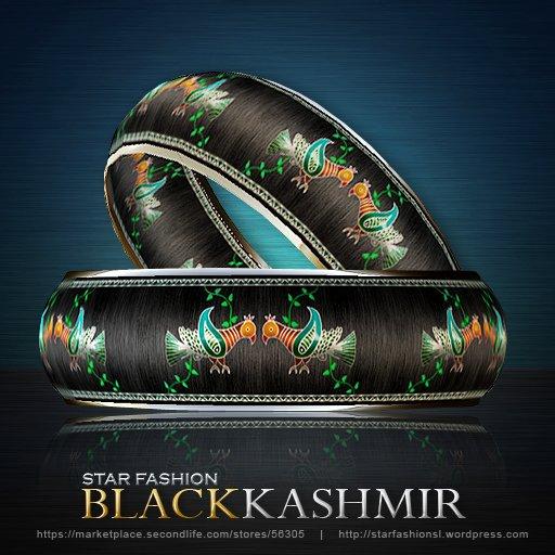 StarFashion Black Kashmir bracelets BOXED