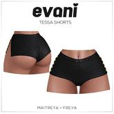evani. - Tessa hearts-shorts / black /