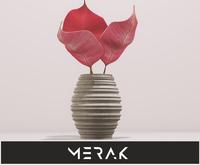 [Merak] - White Ceramic Vase