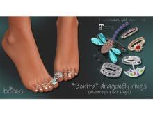 *Bonita* dragonfly rings  (Maitreya Feet High)