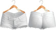 Blueberry - Yumi - Cheeky Shorts - White