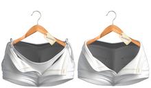 Blueberry -Sunny - Unzipped Shorts & Bikini Bottoms - White