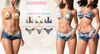 Blueberry sunny 2 bikinis in 1 fat pack