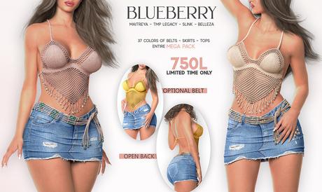 Blueberry - Elise - Top / Skirt / Belt - Mega Pack