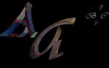 Animated Mesh Letters - Vivaldi / Nebula