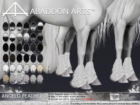 ABADDON ARTS - Angelo Feathers LUXE [Teeglepet American Paint]