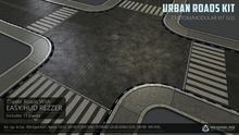 URBAN ROADS KIT (HUD Rezzer V.2) (Mesh+Materials) [NeurolaB Inc.] Cyber Cyberpunk Sci-f