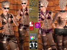 V-Twins- Casual Clothes - Rapid Color Version **MESH Outfit [Mesh Bodies Compatible] Maitreya Slink Belleza