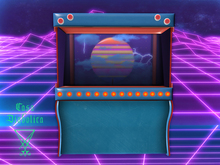 Retrowave Screen Machine (Casa Diabolica) box