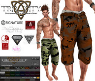 TCMen - Del's Baggy Camo Shorts w/Ctl Hud (David/Aesthetic/Adam/Signature//Belleza/Jake/Slink/TMP/Fitmesh XS-L)