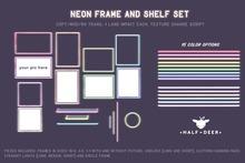 +Half-Deer+ Neon Frames and Shelves [Set]