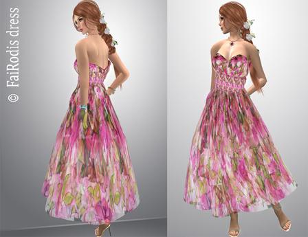 FaiRodis Summer garden dress 4 pink long for all avatars pack