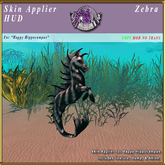 *E* Happy Hippocampus Skin Applier [BOXED] Zebra