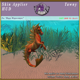 *E* Happy Hippocampus Skin Applier [BOXED] Tawny