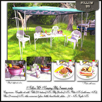 DAILY OFFER !! Follow US !! Camping BBQ Summer party COPY version BOX