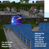 5 pc. mesh fishing dock/Pier set-crate