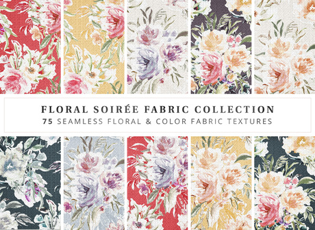 Empire I Floral Soiree Floral Fabrics  & Solids  I Full Perm