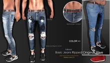 <kalback> Basic Jeans Ripped_Original Blue