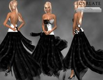 Ecarlate - Dress Gown Formal - Wihte L / Robe soiree Formelle -Pirouthy