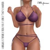 Paper.Sparrow Knot Bikini Purple