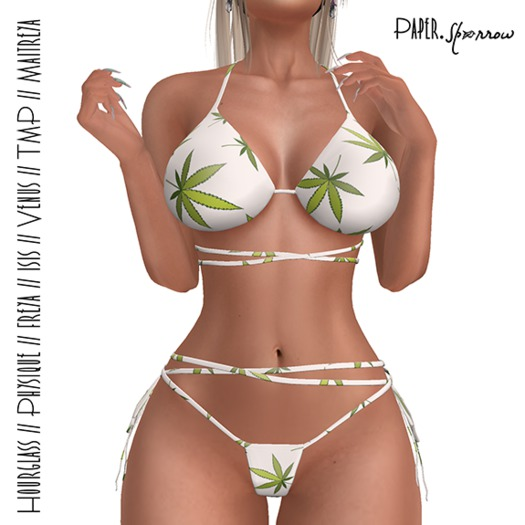 Paper.Sparrow Knot Bikini Herbal