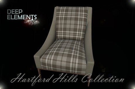 [DeepElements] : (HHC) - Plaid Fabric Chair