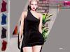 Full Perm MAITREYA One Shoulder Mini Dress Night Out Dress Party Dress Club Dress Black Red Blue Pink