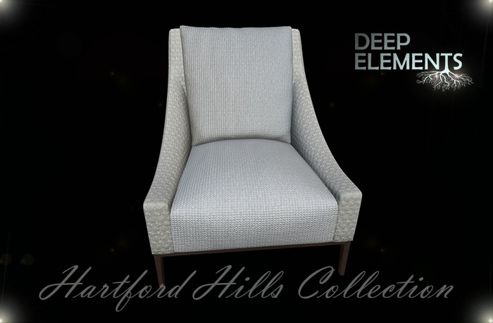 [DeepElements] : (HHC) - White Fabric Chair #1