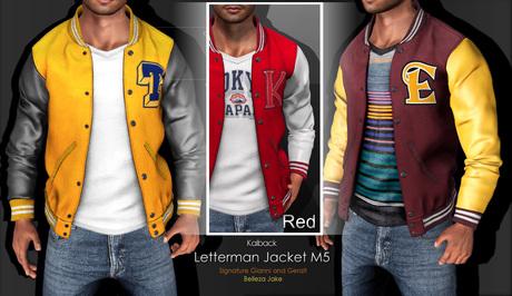 <Kalback> Letterman Jacket M5 Red
