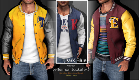 <Kalback> Letterman Jacket M5 Dark Blue