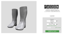 [FUSION] Kid's Classic Riding Boots. - White