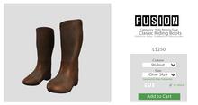 [FUSION] Kid's Classic Riding Boots. - Walnut