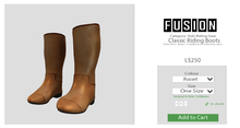 [FUSION] Kid's Classic Riding Boots. - Russet