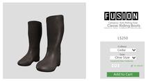[FUSION] Kid's Classic Riding Boots. - Cedar
