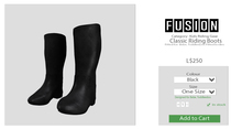 [FUSION] Kid's Classic Riding Boots. - Black