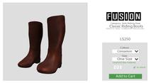 [FUSION] Kid's Classic Riding Boots. - Cinnamon
