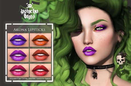 .{PSYCHO:Byts}. Akona Lipsticks Pack