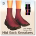 Blackburns Mid Sock Sneakers 8 Color M R S B