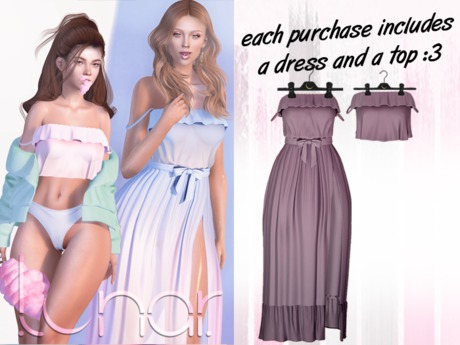 Lunar - Susy Top & Dress - Dusk